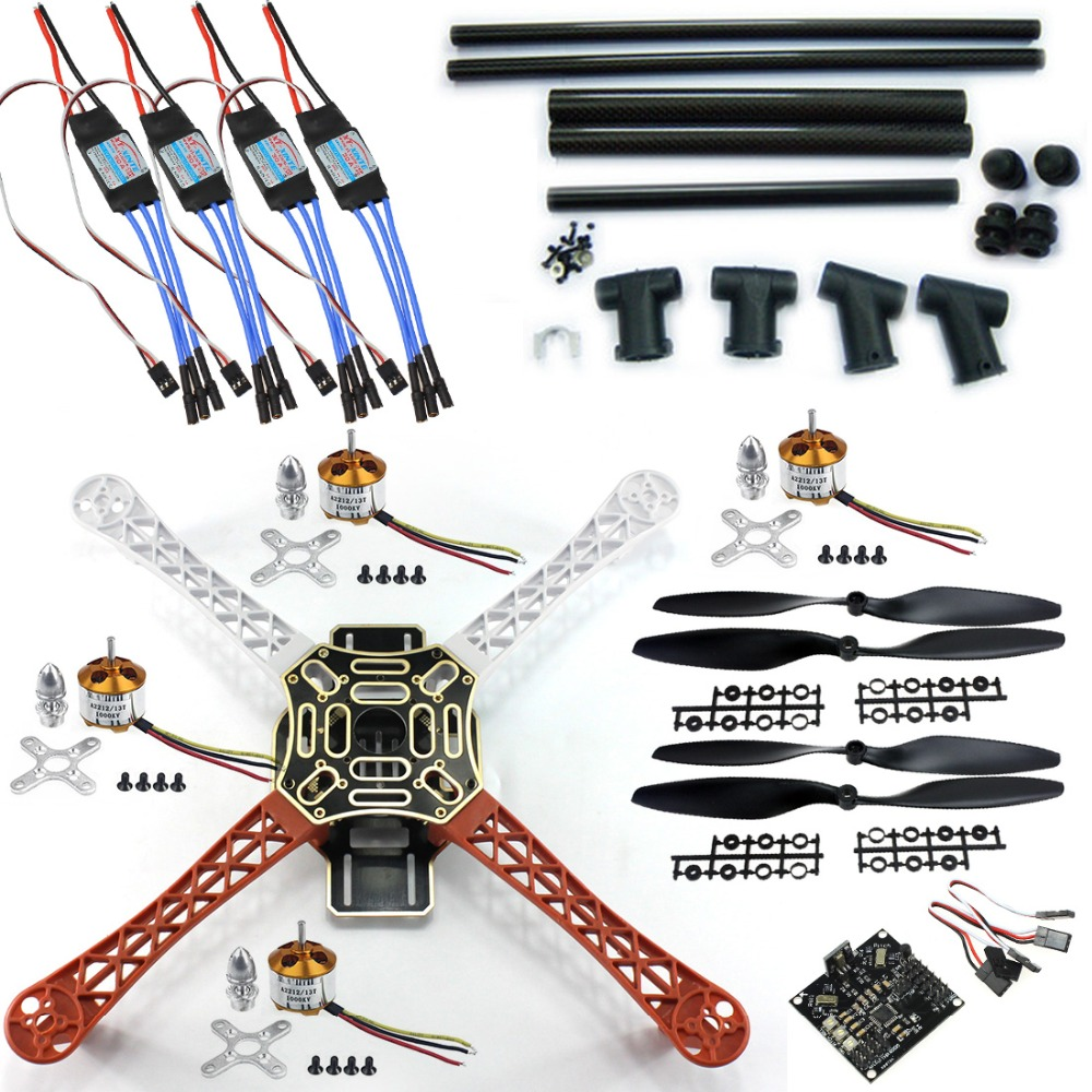 DIY RC Quadcopter FPV Kit:Nylon Flamewheel + Carbon Tall Landing Skid + KK V2.9 Controller + Motor ESC F06586-C f06586 c diy rc quadcopter fpv kit nylon flamewheel carbon tall landing skid kk v2 9 controller motor esc