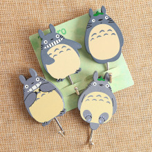 2pcs Totoro Creative Mood Coat Hooks for Bag Keys Wall Decorativefor Hooks Clothes Hangers(China)