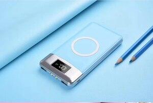 Image 2 - 2020 무선 30000mah 전원 은행 외부 배터리 은행 내장 무선 충전기 Powerbank 휴대용 충전기 iPhone8 x note9