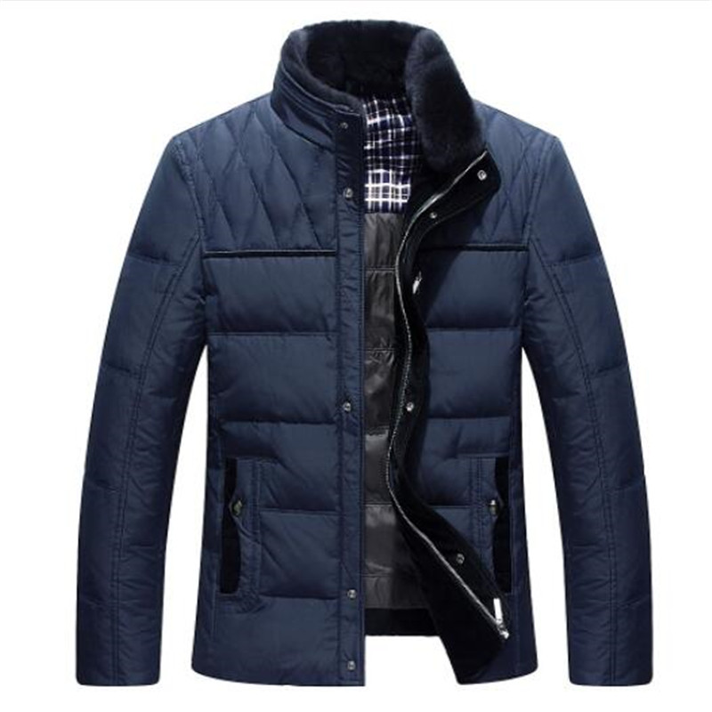 2018 Brand white duck   down   jacket men Winter jackets mens thick warm fur collar   down     coat   fashion parkas hoods M-3XL