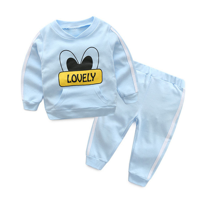 2017 New arrival multicolor Boys Girls Clothing Long Sleeve adorable cotton Babys Sets MY101-MY123