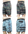 BNWT 4-Way Stretch Board Shorts Mens Bermudas Shorts Beachshorts Boardshorts Camouflage Leisure Shorts Quick Dry Loose Shorts