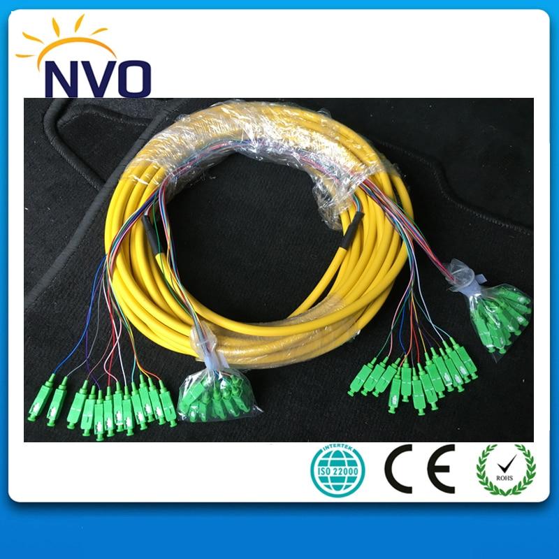 SM,24core,G652D,50cm from Cable to Connector,Length:10M,PVC Jacket,SC/APC-SC/APC Bundled Distribution Fiber Optic Patch CordSM,24core,G652D,50cm from Cable to Connector,Length:10M,PVC Jacket,SC/APC-SC/APC Bundled Distribution Fiber Optic Patch Cord