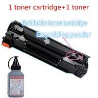 Hisaint für HP 285A CE285 einfache hinzufügen von pulver toner patrone und toner pulver für HP Pro M1132 M1210 laser drucker