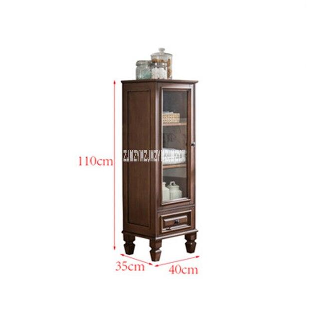 808 Modern Simple Bathroom Cabinet Living Room Solid Wood Storage Cabinet Rubber Wood Corner Side Cabinet Toilet Storage Locker Aliexpress