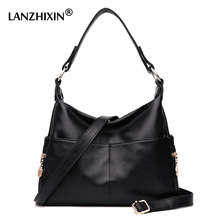 Lanzhixin Brand Designer Handbags High Quality Women Leather Handbags Famous Ladies Women Shoulder Bags Black Zipper Bags 990