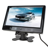TFT LCD Car Rear View Parking Monitor Foldable Auto Rearview Backup Monitors 2 Video Input for Reverse Camera DVD New Arrival