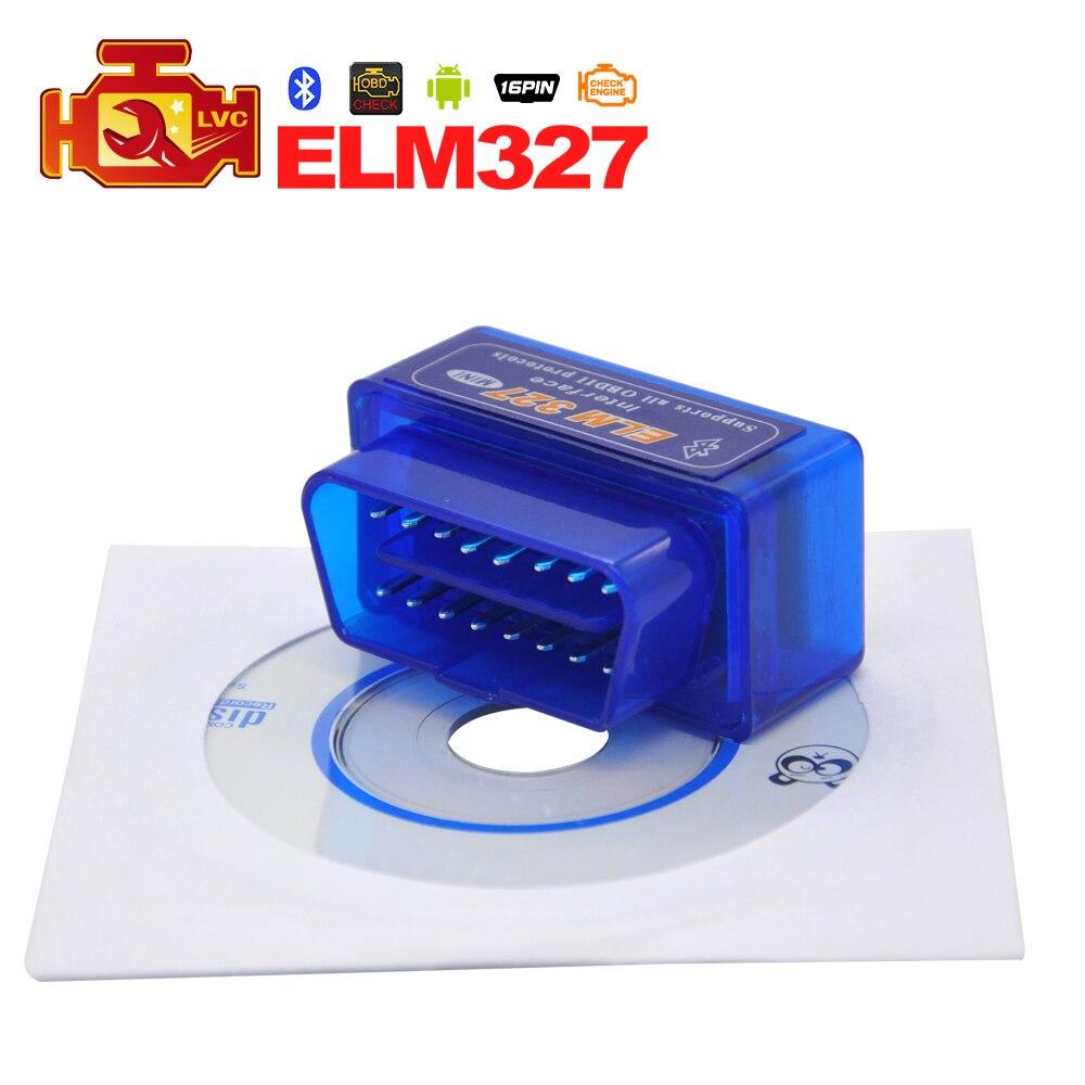 Цена за (10 Шт./лот) Bluetooth V2.1 MINI ELM327 OBDII/OBD2 ELM 327 OBDII/OBD2 Автоматический Диагностический Сканер Инструмент БЕСПЛАТНАЯ ДОСТАВКА