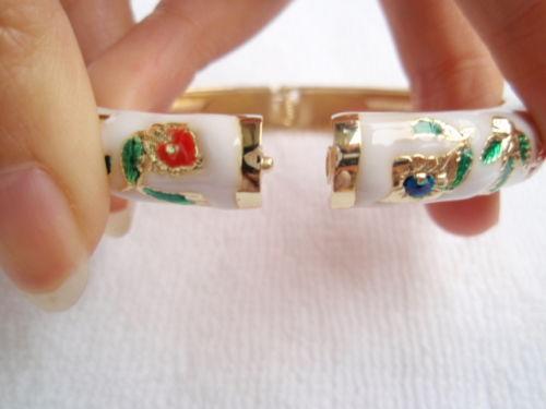 Vente chaude->@@ Wholesale10 PCS Superbe handmake Chinois En Émail Cloisonné Bracelet Manchette BRACELET-Top qualité livraison gratuite - 5
