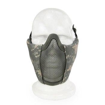 Taktische Halbe Gesichtsmaske für Airsoft Metall Stahl Net Mesh Jagd Schutz Airsoft Maske für Paintball CS Wargame Partei Maske
