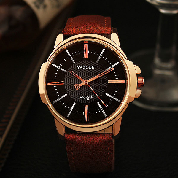 YAZOLE Watches Men Top Brand Luxury Famous Sports Quartz Watch Male Clock Rose Gold Wristwatch Quartz-watch Relogio Masculino