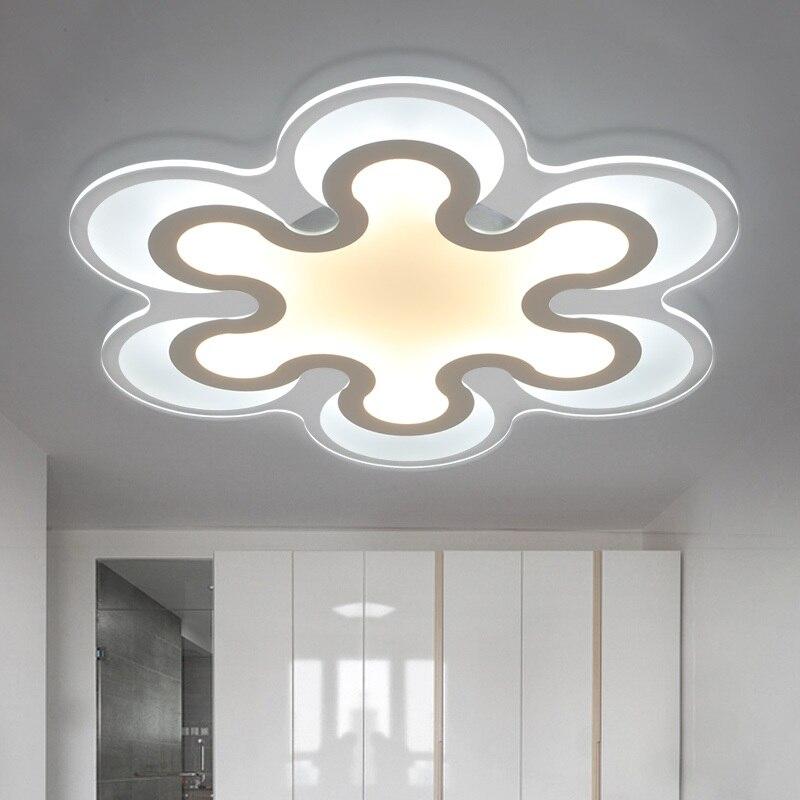 Thin acrylic LED ceiling light living room bedroom study restaurant lights Commercial lighting ceiling lamps 110-240V