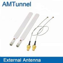 2 pces 4g antena e 2 pces sma fêmea para ipex cabo 20cm para huawei roteador de longo alcance impulsionador sinal