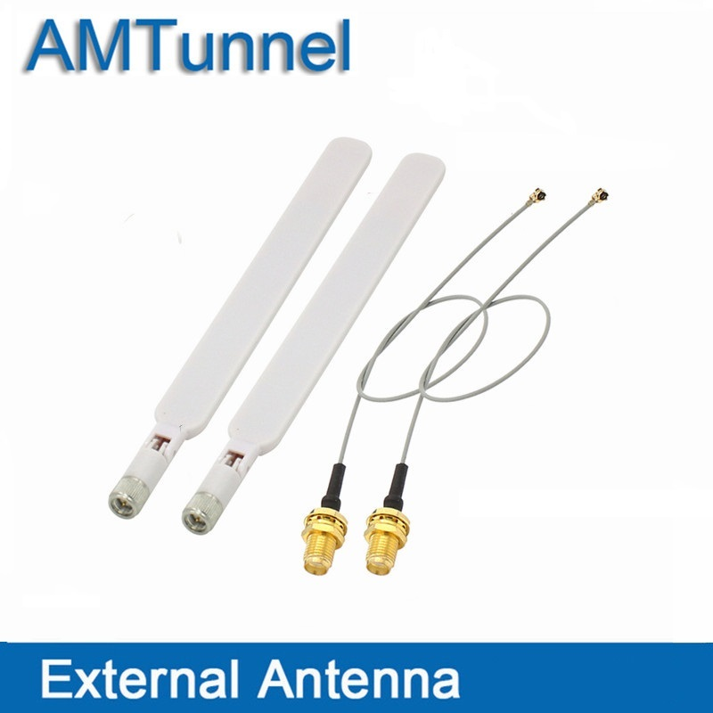 4G router Antenna 2.4G wifi antenne 2 pcs with sma connector Wireless Router + 2 pcs PCI U.FL IPX to RP SMA Female Pigtail Cable