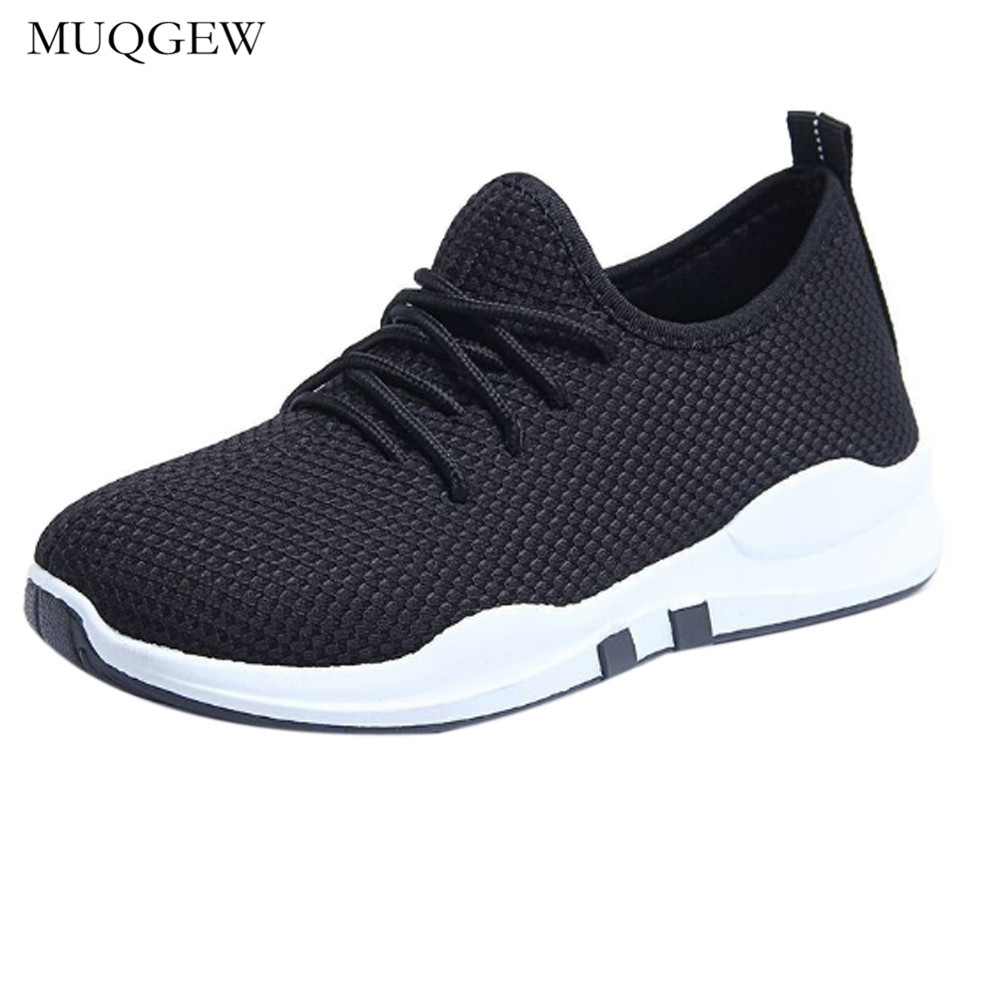 Kids' Clothing, Shoes & Accs Ladies Sport Trainers Breathable Mesh Sneakers Lace Up Casual Shoes Lightweight