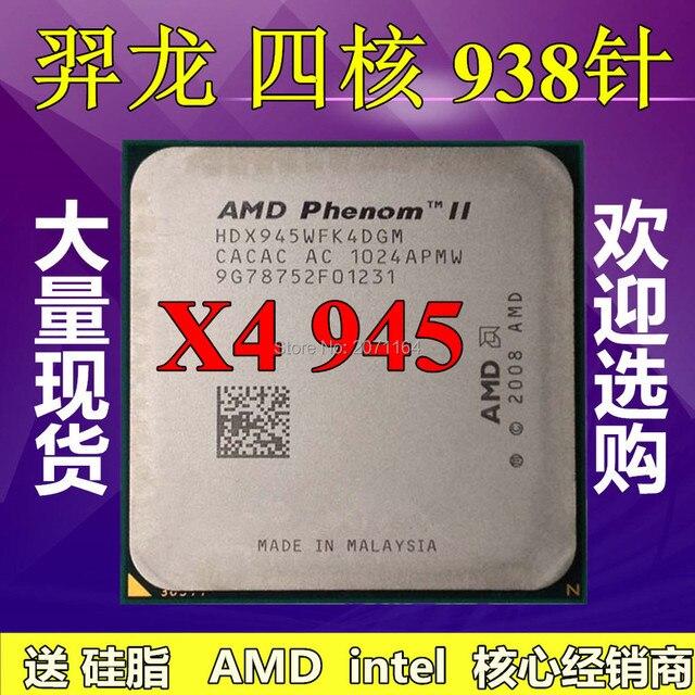 Бесплатная доставка для AMD X4 945 AM3 938-контактный четырехъядерный процессор 125 Вт L3 = 6 М настольный компьютер CPU