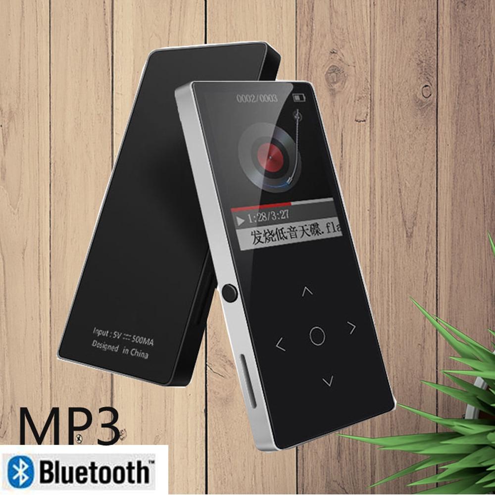 Multi-langue Tactile Clé avec bluetooth HIFI MP3 Lecteur Incassable Résistant Aux Rayures FM Radio E-Book mp3 lecteur