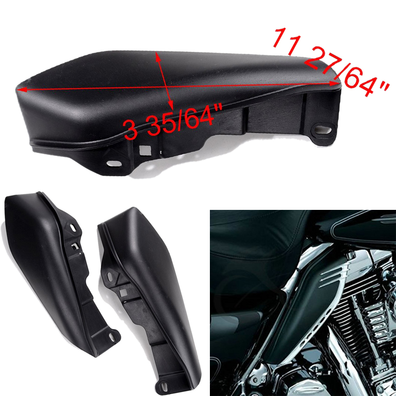 2X Negro ABS Útil Deflectores de Aire Para Harley Touring Street Glide Motocicle