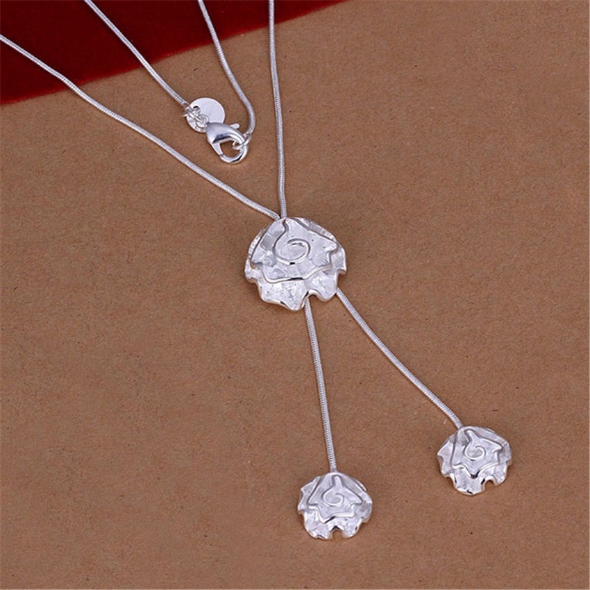 New Listing Hot selling silver plated noble luxury refined high quality flowers Necklace Fashion trends Jewelry Gifts