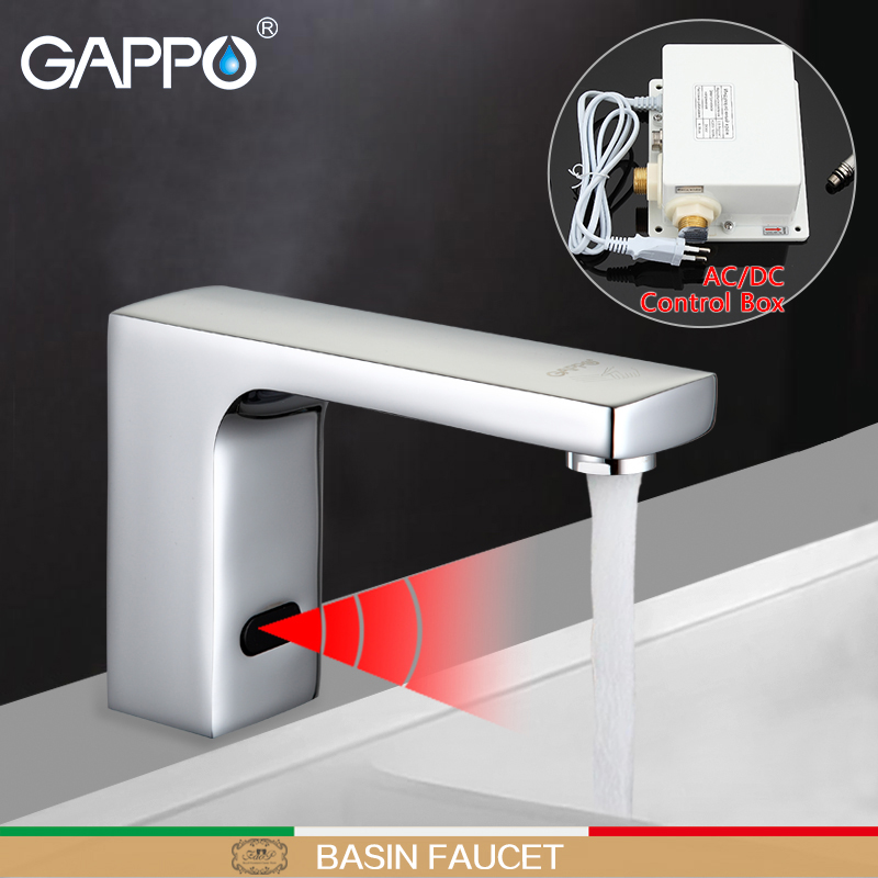 GAPPO Basin Faucet Sensor water Mixer Taps bathroom touch faucet infrared basin mixer Sink faucet waterfall basin tap цены