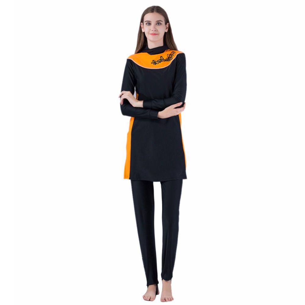 2c5de200829 New Blue Muslim Sunscreen Long Sleeve Swimsuit Middle Eastern Islamic Ladies'  Arab Islam Modest Swimwear Beach Clothes-in Muslim Swimwear from Sports ...