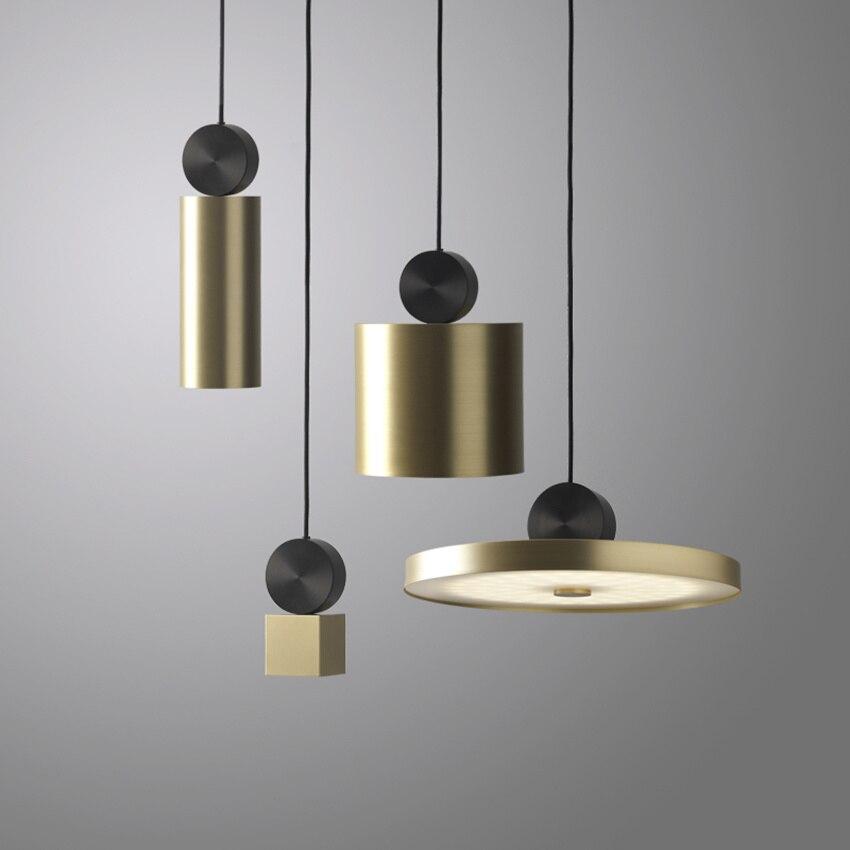 Moderne créatif LED Hanglamp salon couloir Restaurant Luminaire Suspendu lampes suspendues Bar café modèle chambre pendentif lumières