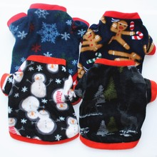 PANDADA Christmas Pet Shirt Winter Warm Dog Cat Clothing Hoodies Sweater Short-sleeved Round Neck Holiday Costumes For Small Dog