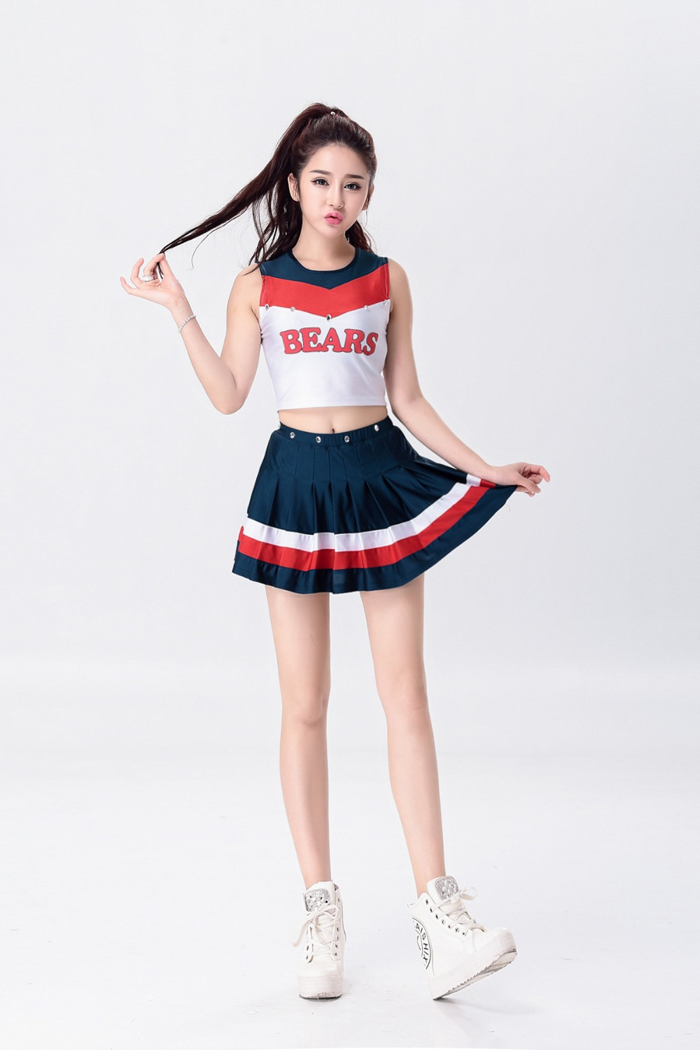 Hot Sale! Cheerleaders Clothing Groups Kids School Cheerleaders Girls Aerobics Costumes Competition School Uniform Dress Skirt