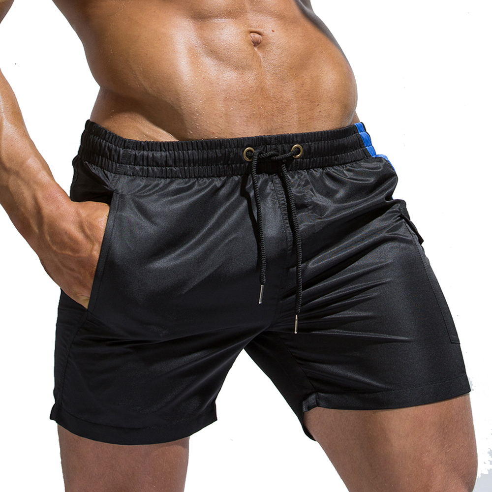 Men's Comfortable Swim Trunks Quick Dry Beach   Shorts   with Pockets   board     shorts   Surfing   shorts   GYM sport summer swimming