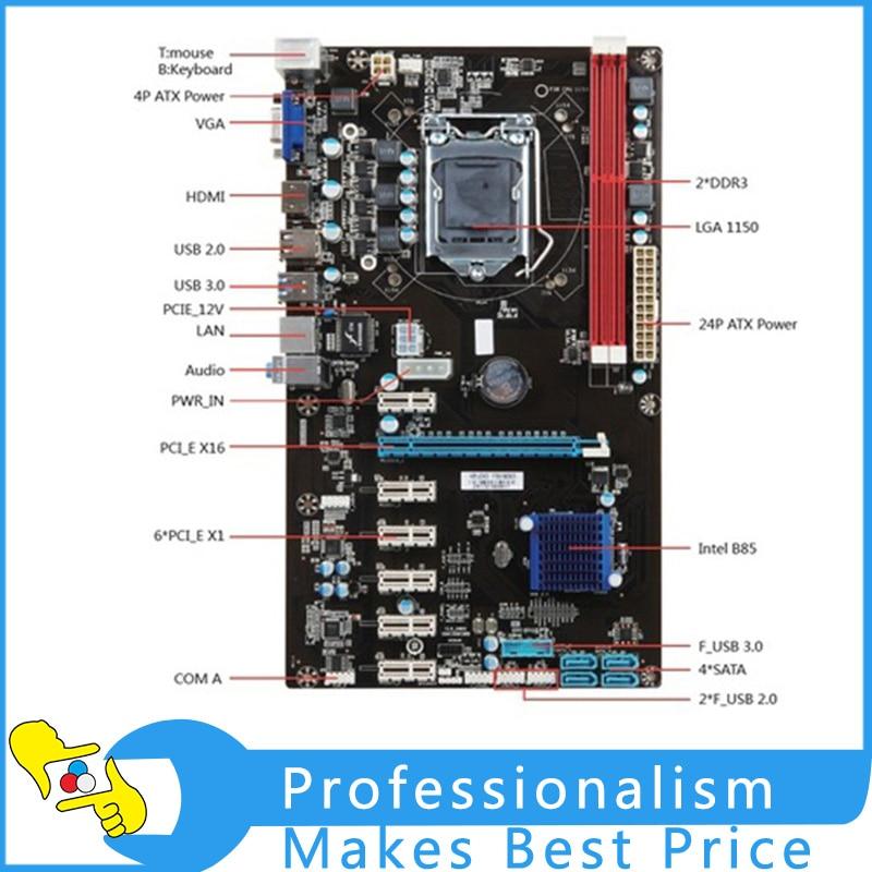 Motherboard H81A-BTC V20 Miner ATX Board LGA1150 Socket Processor Mainboard For Mining wavelets processor