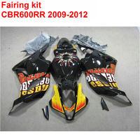 Injection molding Fairing kit for HONDA cbr600rr 2009 2012 orange black ABS fairings CBR 600 RR 09 10 11 12 aftermarket LK38