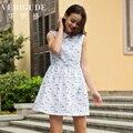 Veri Gude Women Sleeveless Summer Mini Dress Nice Print Cotton Material