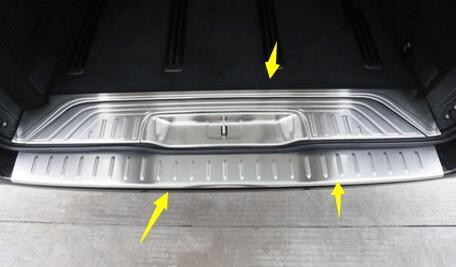 Rear Bumper Protector threshold plate cover Sill Trim for Mercedes Benz Metris Valente Vito Viano V-Class W447 2015 2016 2017 4pcs front rear mud splash flaps guard fender for benz v class vito metris viano w447 2015 2016 with running board