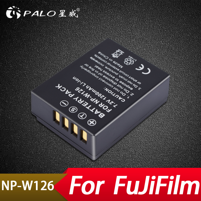 Palo NP-W126 NP W126 NPW126 Replacement Battery 750mAh for FinePix HS30EXR HS33EXR HS50EXR X-A1 X-E1 X-E2 X-M1 X-Pro1