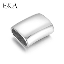 316L Stainless Steel Slide Charms Blank Mirror Polish for Bracelet Making Fit 12x6mm Leather Jewelry DIY Slider Beads Findings