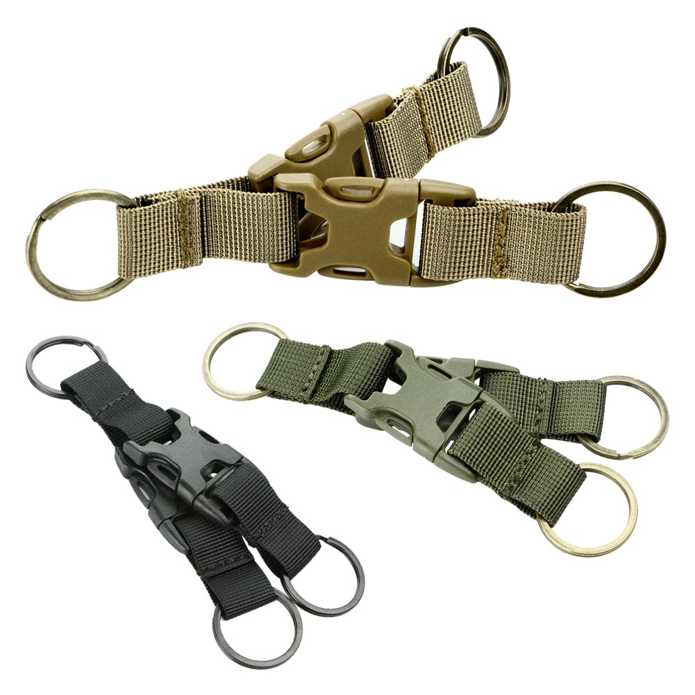 Kem pelayaran luar Taktikal penggantian tentera Pack Backpack Pack Snap Buckle Carabiner Belt Locking Key Chain Clip Release Quick