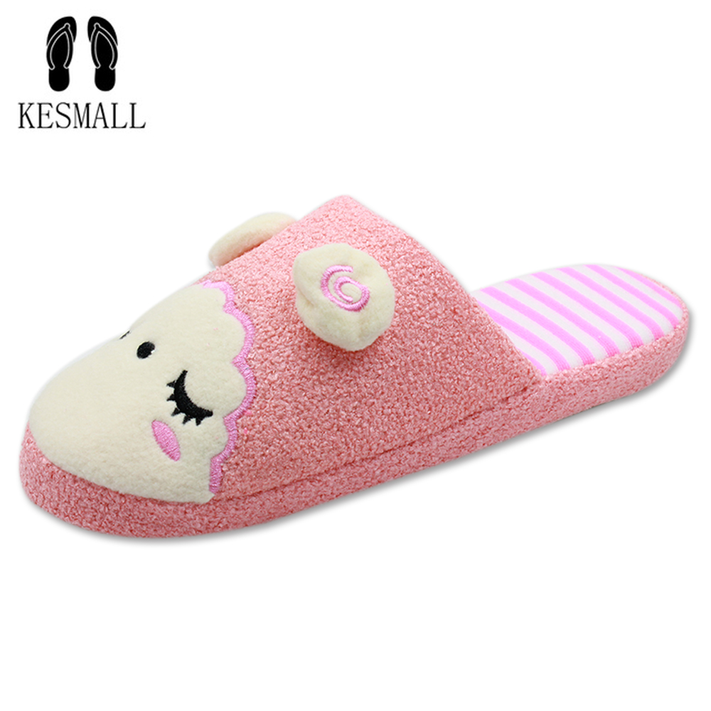 New Winter Animal Shape Mujer Shoes Slippers Women Home Cute Short Plush Warm Sheep Pregnant Women Floor Slip Slippers WS329