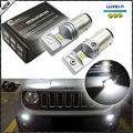 (2) 6000 K Ultra Blanco de Alta Potencia Alimentado Por Luxen 6-SMD LED Daytime Running Bombillas Para Jeep 2015-up Renegado