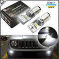 (2) 6000K Ultra White High Power 6-SMD Powered By Luxen LED Daytime Running Light Bulbs For 2015-up Jeep Renegade