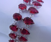 New products sell like hot cakes products free shipping wholesale and retail fashion ornate ruby 925 silver bracelet.