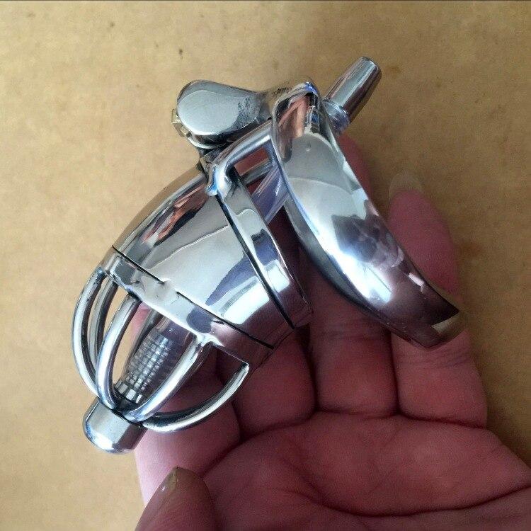 9c6fc71ca00 Chastity belt device men CB belt stainless steel metal penis lock chastity  urethral penis ring chastity belt male