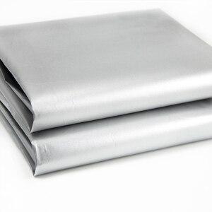 Затемняющая драпировка 50x150 см, черная и серебристая Ткань, 100% Затемняющая легкая водонепроницаемая ткань от солнца, легкая, c2033
