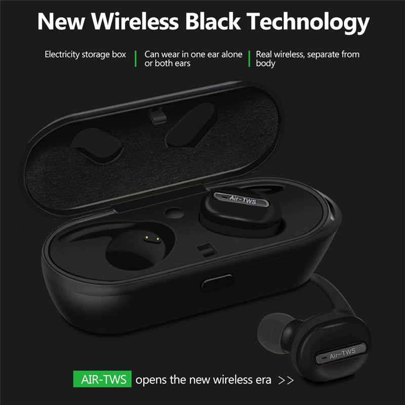 Bluetooth Headset Mini Wirelee Bluetooth Headphone Stereo Earphones Headphones with Charge Box for Iphone X Iphone 8 7 6s Xiaomi kz headset storage box suitable for original headphones as gift to the customer