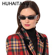 HUHAITANG Luxury Brand Rhinestone Sun Glasses Women Square Sunglasses Woman Ladies Sexy Sunglass Designer Festival Sunglases