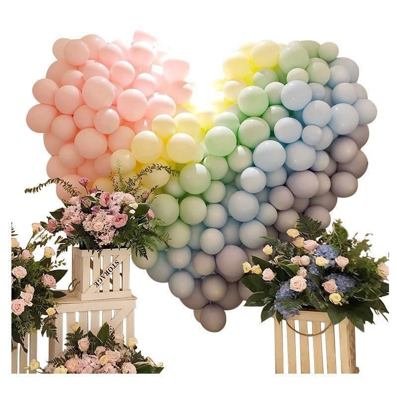 100PCS/Set 10-Inch Macaron Candy Colored Latex Balloons For Wedding Holiday Events Birthday Party Supplies Arch Balloon Tower(China)