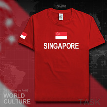 Singapore men t shirt fashion 2017 socceres jersey nation 100% cotton t-shirt meeting fitness brand clothing tee country flag SG