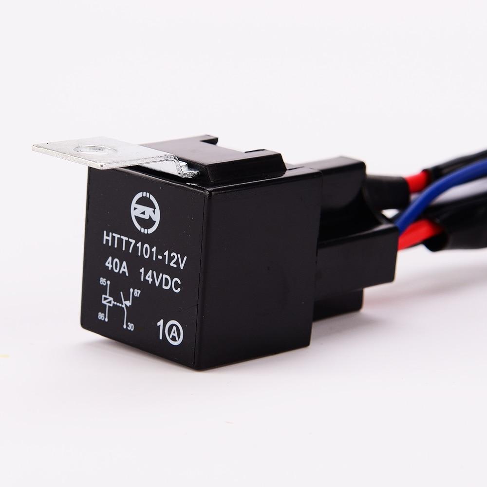 Led lichtleiste Kabelbaum 40 Amp Relais ON OFF Laser Wippschalter ...