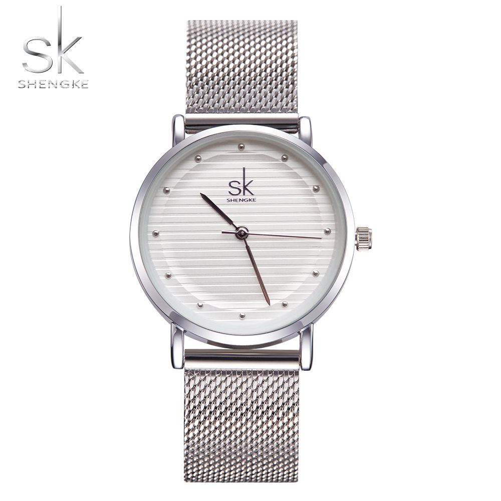 Shengke Brand Quartz Armbandsur Textur Klockor Kvinnor Casual - Damklockor - Foto 2