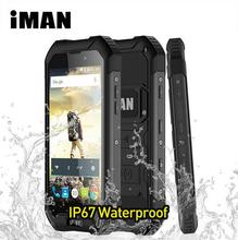 iMAN X5 IP67 Waterproof Mobile Phone 4.5 inch MTK6580 Quad Core Android 5.1 1+8GB Rugged 5MP GPS 3000mAH 3G WCDMA Smartphone