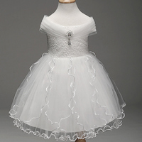 Summer Embroidery Flower Tulle Dress Kids Princess Costume For Wedding Party Evening Dress Children Clothing